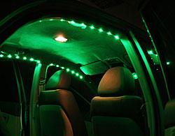 светодиоды в салоне машины